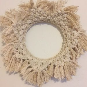 Handmade Macrame Wreath, Organic Cotton 12in